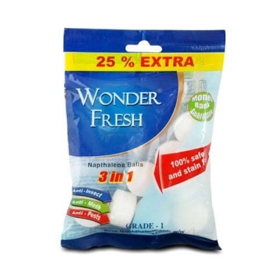 WONDER FRESH NAPHTHALENE BALLS 50GM