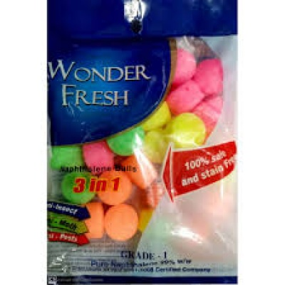 WONDER FRESH NAPHTHALENE BALLS COLOR 50GM