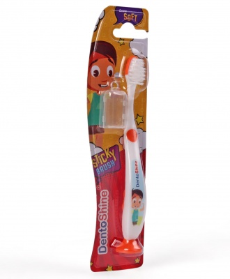 DENTOSHINE TOOTHBRUSH STICKY 2+ ORANGE