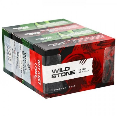 Wild Stone Combo Soap (Buy 3 Get 1 Free & Save Rs.50/-) 4 x 125 g