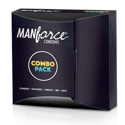 ANFORCE WILD CONDOM COMBO PACK 20S 5 FLAVOUR HONEYMOON PACK