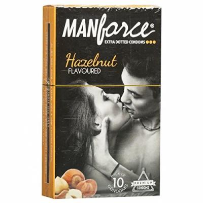 Manforce Hazelnut Flavoured Condoms 10's Pack
