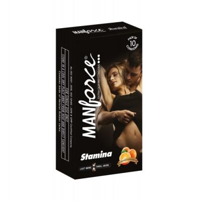 Manforce Stamina Extra Dotted Condom Orange 10's