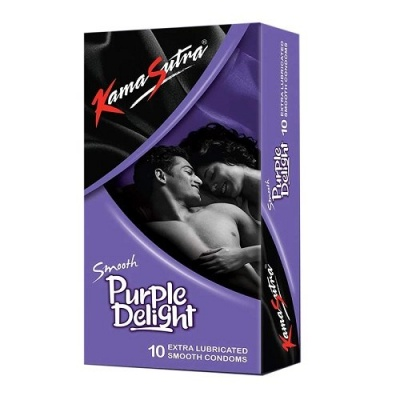 KamaSutra Smooth Purple Delight Condoms  10's Pack