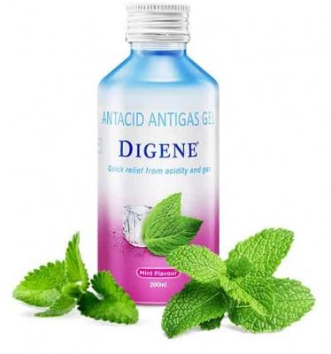 Digene Mint Flavour Sugar Free Bottle Of 200ml Gel