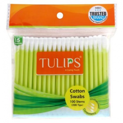 Tulips Cotton Swabs 100 pcs