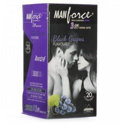Manforce Wild Condom Black Grapes 20's