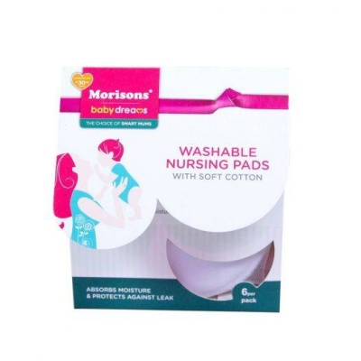 Washable Nursing Pads with Soft Cotton-Set of 6