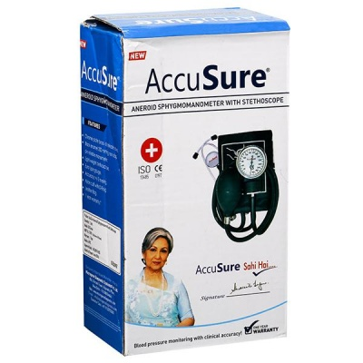 AccuSure Aneroid Sphygmomanometer With Stethoscope Pack Of 1