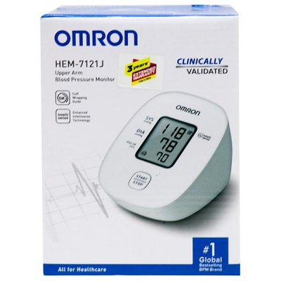 Omron Upper Arm Blood Pressure Monitor Hem 7121J Device Pack Of 1