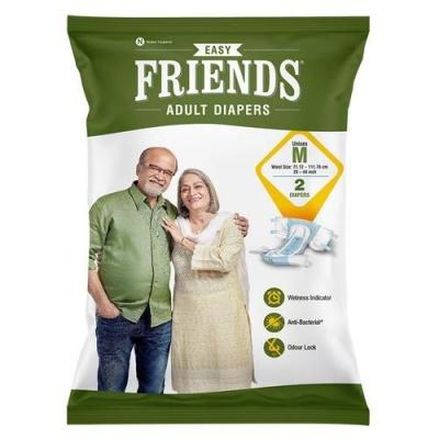 Friends Easy Adult Diaper, Medium, 2 pcs