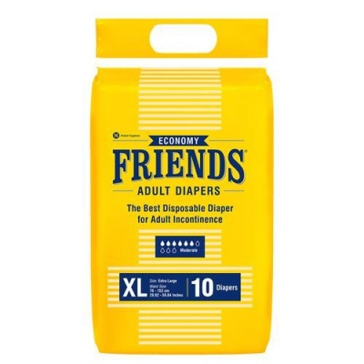 Friends Adult Diapers Economy, Extra Large, 10 pcs