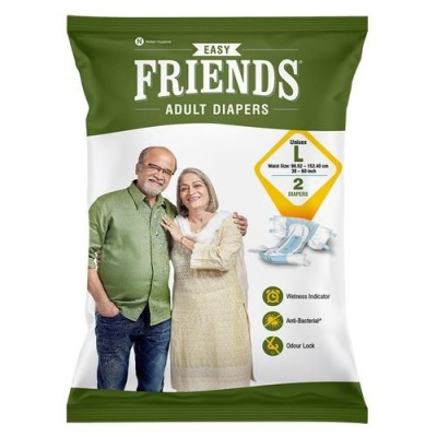 Friends Easy Adult Diaper, Large, 2 pcs